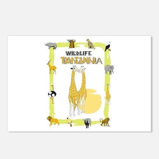 wildlife Tanzania 2 Postcards (Package of 8)