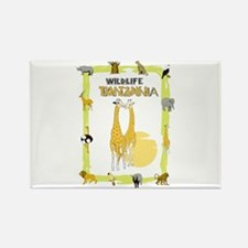 wildlife Tanzania 2 Rectangle Magnet (100 pack)