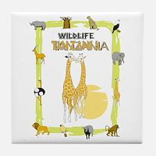 wildlife Tanzania 2 Tile Coaster