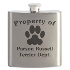 Property Of Parson Russell Terrier Dept Flask