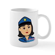Woman Police Officer Head Medium Mug