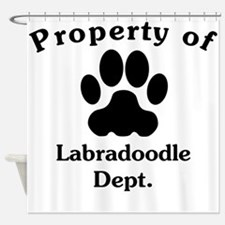 Property Of Labradoodle Dept Shower Curtain