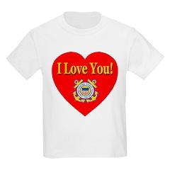 I Love You USCG Emblem & Heart T-Shirt