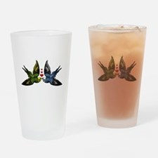 In Love Birds Drinking Glass