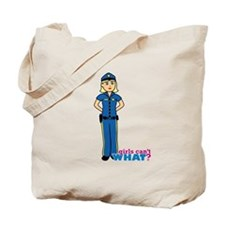 Woman Police Officer Light/Blonde Tote Bag