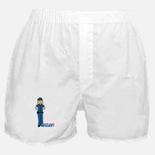 Woman Police Officer Light/Blonde Boxer Shorts