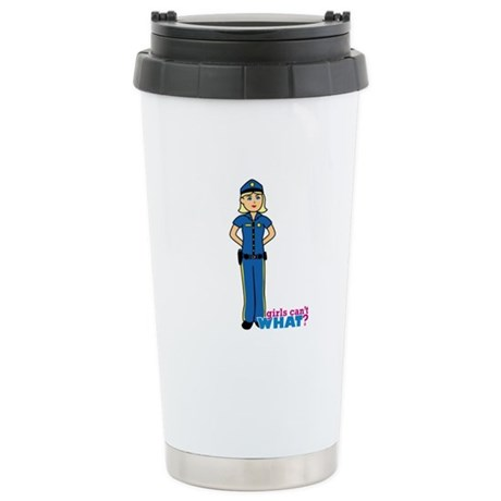 Woman Police Officer Light/Blonde Stainless Steel