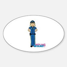 Woman Police Officer Light/Blonde Decal