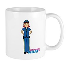 Woman Police Officer Light/Red Mug