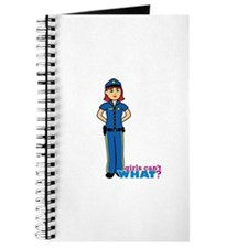 Woman Police Officer Light/Red Journal
