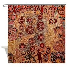 Aboriginal Petroglyph Shower Curtain