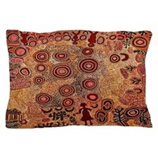 Aboriginal Petroglyph Pillow Case