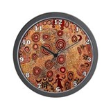 Aboriginal Wall Clocks