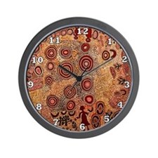 Aboriginal Petroglyph Wall Clock