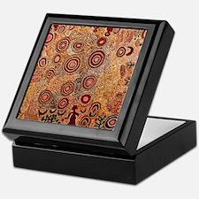 Aboriginal Petroglyph Keepsake Box