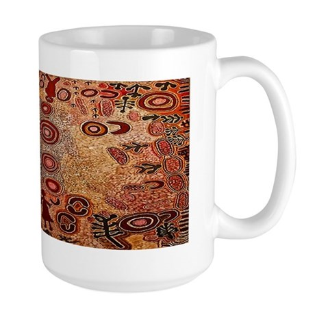 Aboriginal Petroglyph Large Mug Mugs