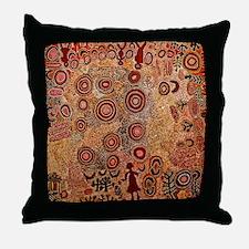 Aboriginal Petroglyph Throw Pillow