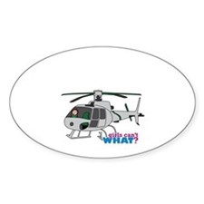 Girl Helicopter Pilot Light/Red Decal