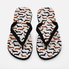Dachshund Grey Flip Flops