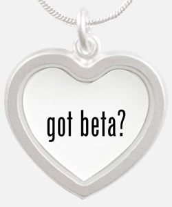 Got Beta? Silver Heart Necklace