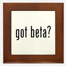 Got Beta? Framed Tile