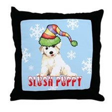 Holiday Bichon Throw Pillow