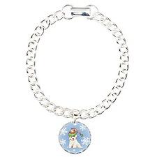 Holiday Bichon Charm Bracelet, One Charm
