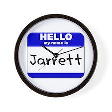 hello my name is jarrett  Wall Clock