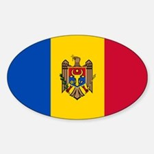 Flag of Moldova Sticker (Oval)