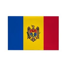 Flag of Moldova Rectangle Magnet