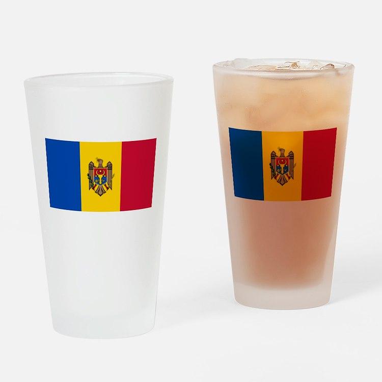 Flag of Moldova Drinking Glass