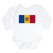 Flag of Moldova Long Sleeve Infant Bodysuit