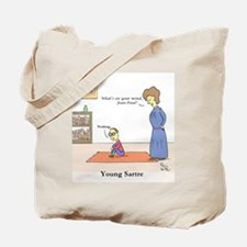 Young Sartre Tote Bag