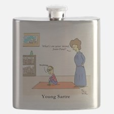 Young Sartre Flask