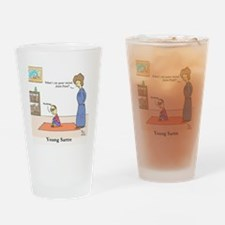 Young Sartre Drinking Glass
