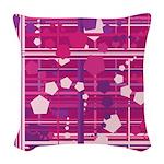 Pentagons taste like Grape Soda Woven Throw Pillow