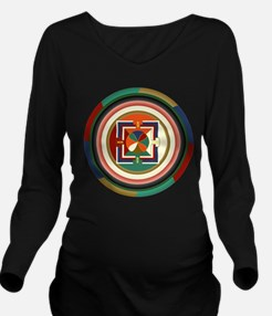 NowMandalaFlat.png Long Sleeve Maternity T-Shirt