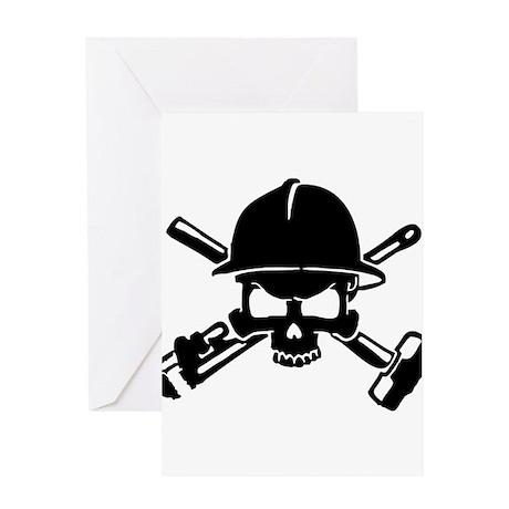 Oilfield Skull Greeting Cards
