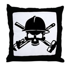 Oilfield Skull Throw Pillow