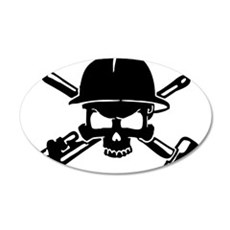Oilfield Skull Wall Decal