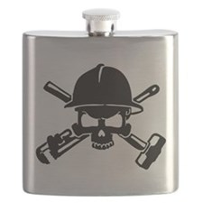 Oilfield Skull Flask