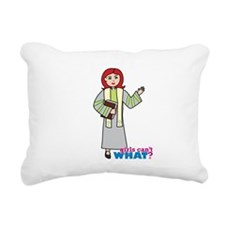 Preacher Woman Light/Red Rectangular Canvas Pillow