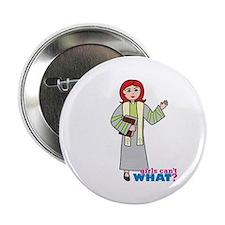 """Preacher Woman Light/Red 2.25"""" Button"""