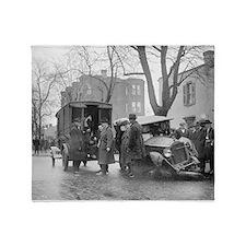 Bootleggers Wrecked Car, 1922 Throw Blanket