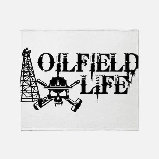 oilfieldlife2 Throw Blanket