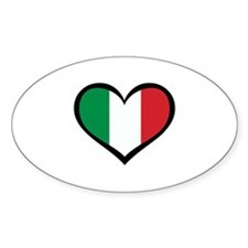 Italy Love Rectangle Decal