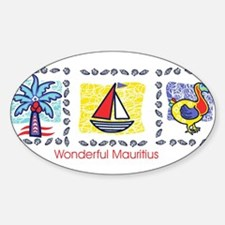 wonderful Mauritius Oval Decal