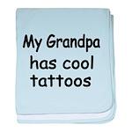 My Grandpa has cool tattoos baby blanket