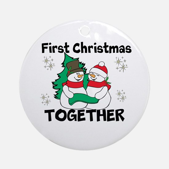 Cute First Christmas Together Ornament (Round)