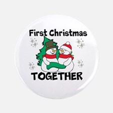 "Cute First Christmas Together 3.5"" Button (100 pac"